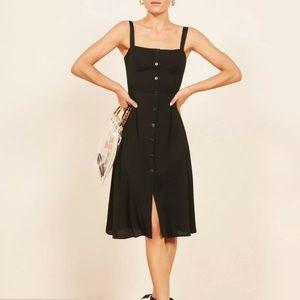 🌟Reformation Black Persimmon Dress Black size 8